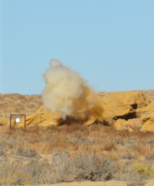 .308Win Battle Rifle - P7 Equipped at 350yrds, Tannerite did not stand a chance!